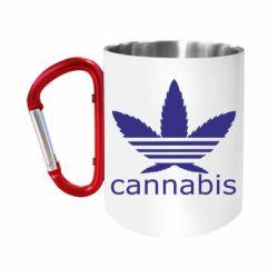 Кружка з ручкою-карабіном Cannabis