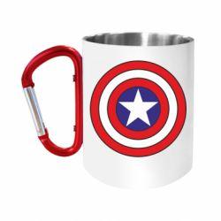 Кружка з ручкою-карабіном Captain America