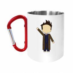 """Кружка с ручкой """"карабин"""" Cartoon Doctor Who"""