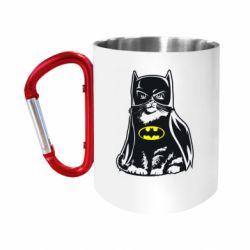 Кружка з ручкою-карабіном Cat Batman