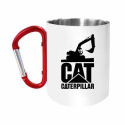Кружка з ручкою-карабіном Caterpillar cat