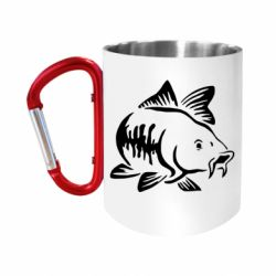 Кружка з ручкою-карабіном Catfish