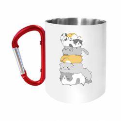Кружка з ручкою-карабіном Cats