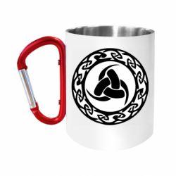 Кружка з ручкою-карабіном Celtic knot circle