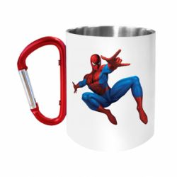 Кружка з ручкою-карабіном Людина павук