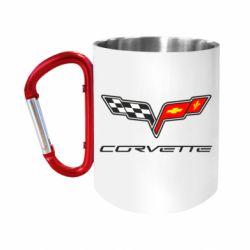 Кружка з ручкою-карабіном Chevrolet Corvette