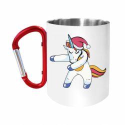 Кружка з ручкою-карабіном Christmas Unicorn