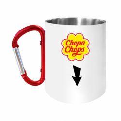 """Кружка с ручкой """"карабин"""" Chupa Chups"""