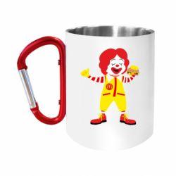 Кружка з ручкою-карабіном Clown McDonald's