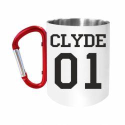 """Кружка с ручкой """"карабин"""" Clyde 01"""