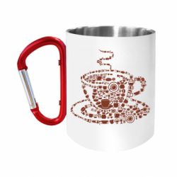 Кружка з ручкою-карабіном Coffee from the cups