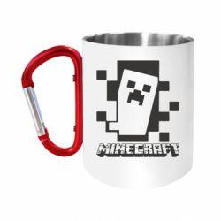 Кружка з ручкою-карабіном Color Minecraft