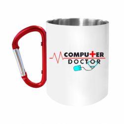 Кружка з ручкою-карабіном Computer Doctor