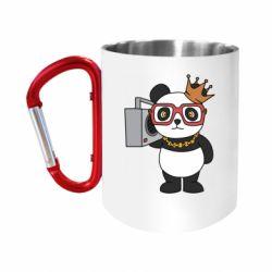 Кружка з ручкою-карабіном Cool panda