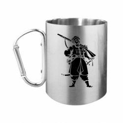 """Кружка с ручкой """"карабин"""" Cossack with a gun"""