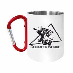 "Кружка с ручкой ""карабин"" Counter Strike Gamer"