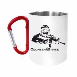 "Кружка с ручкой ""карабин"" Counter Strike Player"