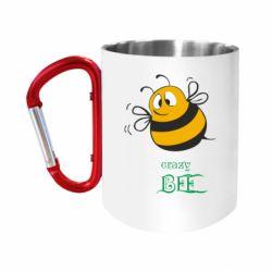 Кружка з ручкою-карабіном Crazy Bee