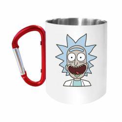 """Кружка с ручкой """"карабин"""" Crazy Rick"""