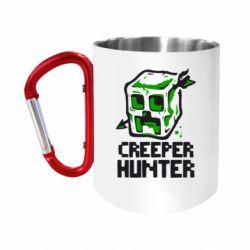 """Кружка с ручкой """"карабин"""" Creeper Hunter"""