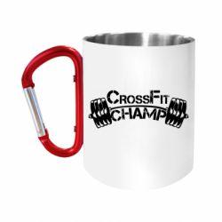 """Кружка с ручкой """"карабин"""" CrossFit Champ"""