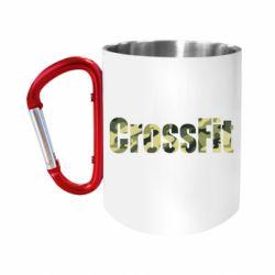 """Кружка с ручкой """"карабин"""" CrossFit камуфляж"""