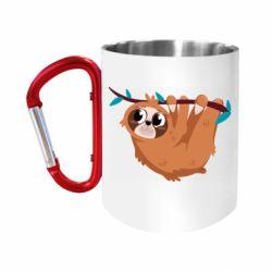 """Кружка з ручкою """"карабін"""" Cute sloth"""