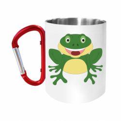 """Кружка с ручкой """"карабин"""" Cute toad"""