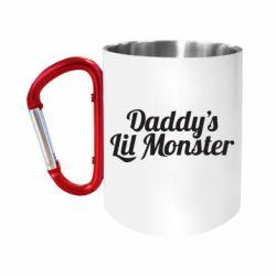 Кружка з ручкою-карабіном Daddy's Lil Monster
