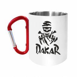 """Кружка с ручкой """"карабин"""" DAKAR LOGO"""