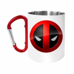 Кружка з ручкою-карабіном Deadpool Logo