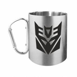 """Кружка с ручкой """"карабин"""" Decepticons logo"""