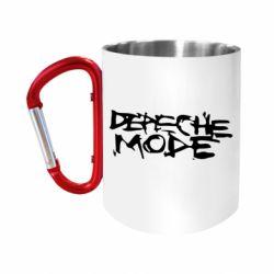 """Кружка с ручкой """"карабин"""" Depeche mode"""