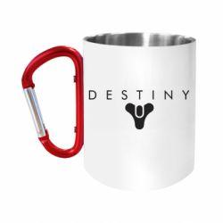 """Кружка с ручкой """"карабин"""" Destiny logo 2 title"""