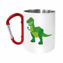 """Кружка с ручкой """"карабин"""" Dino toy story"""