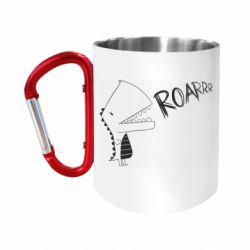 Кружка з ручкою-карабіном Dinosaur roar