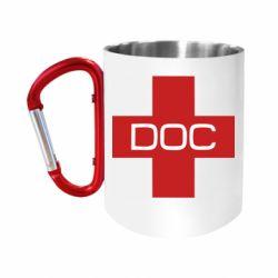 Кружка з ручкою-карабіном DOC
