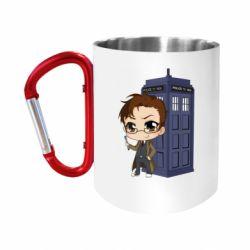 Кружка з ручкою-карабіном Doctor who is 10 season2