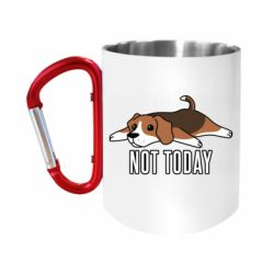 """Кружка с ручкой """"карабин"""" Dog not today"""