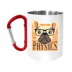 """Кружка с ручкой """"карабин"""" Dog Physicist"""