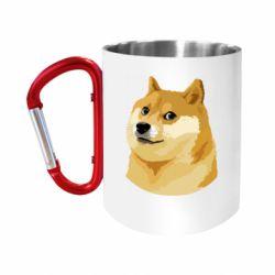 Кружка з ручкою-карабіном Doge