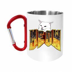 Кружка з ручкою-карабіном Doom меов cat
