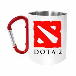 """Кружка с ручкой """"карабин"""" Dota 2 Big Logo"""