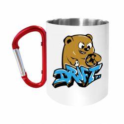 "Кружка с ручкой ""карабин"" Drift Bear"