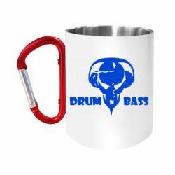 Кружка з ручкою-карабіном Drumm Bass