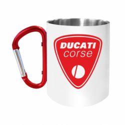 """Кружка с ручкой """"карабин"""" Ducati Corse"""