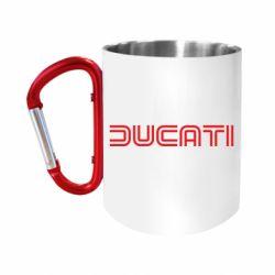 """Кружка с ручкой """"карабин"""" Ducati Vintage"""