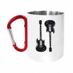 Кружка з ручкою-карабіном Дві гітари