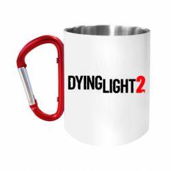Кружка з ручкою-карабіном Dying Light 2 logo