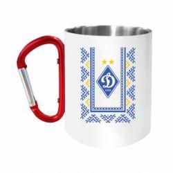 """Кружка с ручкой """"карабин"""" Dynamo logo and ornament"""